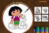 Online coloring dora